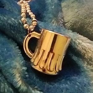 """Other - Shot glass necklace over 20"""""""